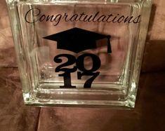 Graduation Gift, Graduation Glass Block