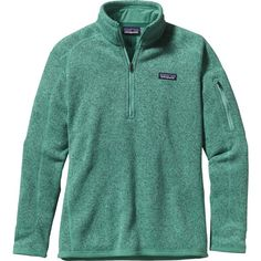 Patagonia Better Sweater 1/4-Zip Fleece Jacket ($99) ❤ liked on Polyvore featuring tops, slimming tops, zip front top, zip pullover, patagonia pullover and patagonia