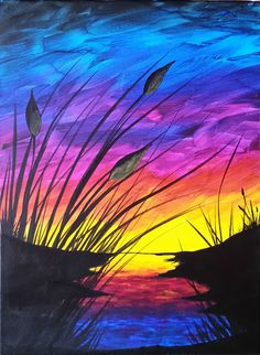 Sunset and Cattails