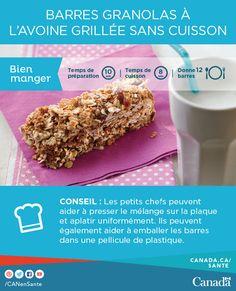 Quoi de mieux que des barres de céréales pour faire le plein d'énergie entre les activités de vos enfants. En voici la recette :   http://canadiensensante.gc.ca/eating-nutrition/healthy-eating-saine-alimentation/recipes-recettes/barre-granola-bars-fra.php?utm_source=twitter_hcdns&utm_medium=social_en&utm_content=mar16_granolabar3&utm_campaign=social_media_14&utm_source=pinterest_hcdns&utm_medium=social_fr&utm_content=mar16_granolabar7&utm_campaign=social_media_14