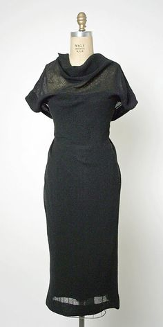Dress.  House of Balenciaga (French, founded 1937).  Designer: Cristobal Balenciaga (Spanish, 1895–1972). Date: fall/winter 1959–60. Culture: French. Medium: wool. Dimensions: Length at CB: 55 1/2 in. (141 cm).