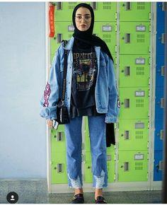 Pinterest: samingram3 ☆ Modern Hijab Fashion, Street Hijab Fashion, Hijab Fashion Inspiration, Muslim Fashion, Hijab Style, Hijab Chic, Modest Outfits, Trendy Outfits, Fashion Outfits