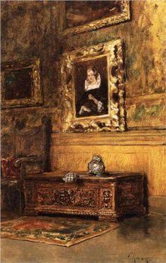 ◇ Artful Interiors ◇ paintings of beautiful rooms - William Merritt Chase   Studio Interior