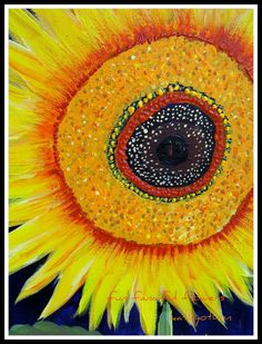 Use as inspiration: Brown center, couching, yellow material, couching or thinned acrylic painting, petals. Sunflower from Etsy.