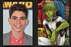 Cameron Boyce as Beast Boy/ Garfield Logan  He seems to always to be energetic on the films and shows that he is in and imagining him being the younger brother figure in a Teen Titans film and changing from animal from animal would be awesome