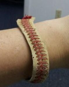 Sporty Baseball DIY Bracelet   AllFreeJewelryMaking.com