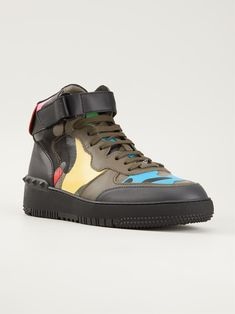 Valentino Garavani Camouflage Hi-top Sneakers - Papini - Farfetch.com