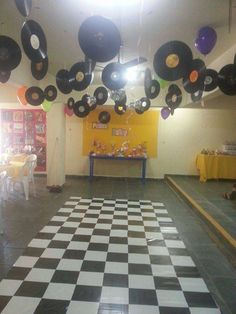 Birthday Party Ideas Photo 1 of 151 Catch My Party click the link now for more info. 80s Birthday Parties, Music Themed Parties, Music Party, Disco Theme Parties, 80s Party Decorations, Dance Decorations, Party Themes, Theme Ideas, Grease Party
