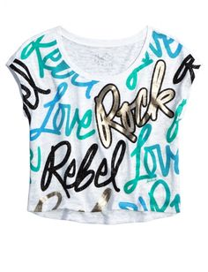 Crop Icon Tee | Girls {category} {parent_category} | Shop Justice