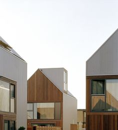 An urban and architectural practice located in Amsterdam, Netherlands which has a focus on architecture, urban design, and landscape. Minimalist Architecture, Amazing Architecture, Interior Architecture, Exterior Design, Interior And Exterior, Wood Facade, Social Housing, House Roof, Residential Architecture