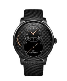 Jaquet Droz Grande Seconde Power Reserve Black Ceramic Clous De Paris