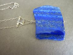 Lapis & Citrine Pendant by HalliesComet on Etsy Citrine Pendant, Dog Tag Necklace, Artisan, Gemstones, Trending Outfits, Unique Jewelry, Handmade Gifts, Beauty, Etsy