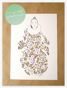 One Good Thing: Papercut Fashion Illustration | Creature ComfortsCreature Comforts