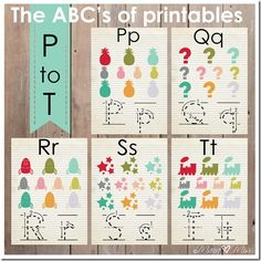 The ABC's of printables: letters P-T {mama♥miss} ©2013