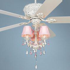 Casa Deville Pretty in Pink Pull Chain Ceiling Fan -