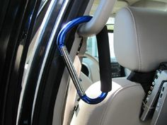 To hang bags in the car and keep the floors clutter free