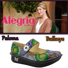 Look no further than the Paloma by #AlegriaShoes if you are looking for a comfortable, secure #maryjane workshoe with a cute flair that comes in a variety of patterns and colors. Find them now on ClogsAndShoes.com. #casual #comfortable #womensfashion #womensshoes #scrublife #nurse #nurselife #nursing #fashionblogger #fashion #fashioninspiration #bosslady #cuteshoes #hairdresser #teacher #cook #waitress  #cute #Alegria #outfitoftheday #ootd #spring #springfashion #swirl #bullseye