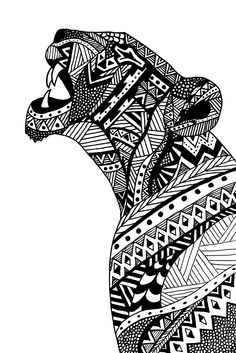 Agathe Altwegg - lioness illustration