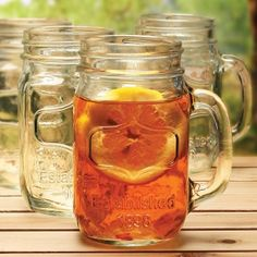 Southern Belle Mason Jar Glasses, Set of 4 (Engravable), from HomeWetBar.com