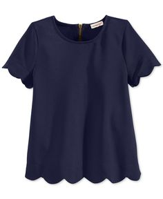 Alyssa Monteau Girls' Scalloped Top - Kids Girls 7-16 - Macy's
