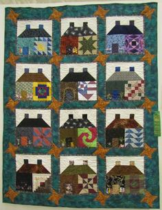 Home Sweet Home by Bonnie Hartel. Pattern by Joe Wood, published in Quiltmania. Western North Carolina Quilters Guild 2014 show.
