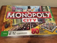 Monopoly City with 80 3-D Buildings Family Game - MINT condition