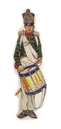 Veste de tambour , compagnie fusiliers,1812-1814