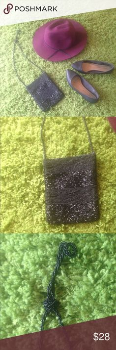 Hand Beaded Purse Magnetic Clasp Great Condition Bags Mini Bags