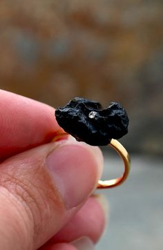 Check out this item in my Etsy shop https://www.etsy.com/il-en/listing/241524106/black-raw-ring-gemstone-jewelry-gold