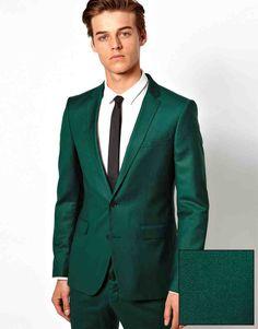Buy Selected Skinny Fit Blazer at ASOS. Wedding Tux, Green Wedding, India Wedding, Wedding Ideas, Groom Wear, Groom And Groomsmen, Green Suit Men, Skinny Fit Suits, Prom Outfits