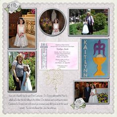 layouts for scrapbooking 1st communion   ... Kaitlynn's First Communion - Page 2 - Digital Scrapbook Place Gallery