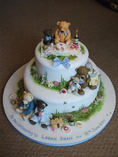 Many teddy bear picnic cake pictures and ideas - Google Search