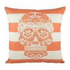 Skulls stripes and orange. Three of my favorite things!