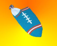 Miami Dolphins Baby Football Cocoon & Hat (Newborn to 3 months) on Etsy, $36.00