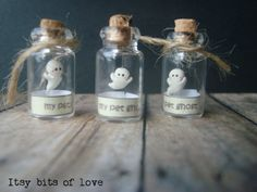 My pet ghost GLOWS in the Dark Micro ghost in a by itsybitsoflove                                                                                                                                                                                 More