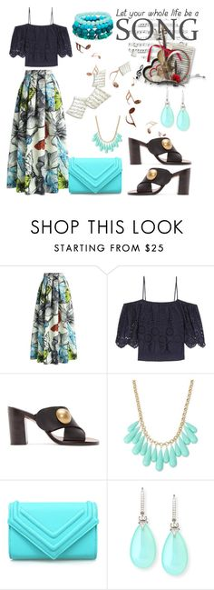 """Concert in the Park"" by hastypudding ❤ liked on Polyvore featuring Chicwish, Ganni, Chloé, INC International Concepts, Rina Limor, maxiskirt, fashionset and AmiciMei"
