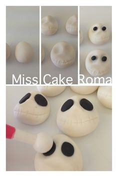#tutorial skulls #fondant #sugar art #cake design