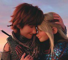 Httyd Dragons, Dreamworks Dragons, Httyd 3, Disney And Dreamworks, Disney Couples, Cute Couples, Hiccup Y Astrid, Hicks Und Astrid, Toothless And Stitch