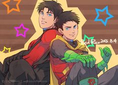 Dick and Damian by Rico