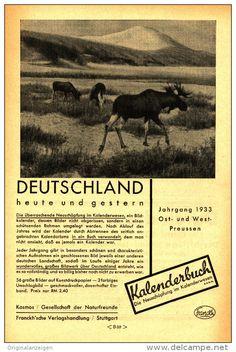 Original-Werbung/Inserat/ Anzeige 1932 - 1/1-SEITE - KALENDERBUCH DEUTSCHLAND - ca. 150 x 230 mm