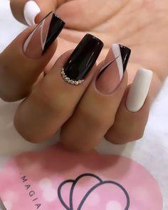 Manicure Nail Designs, Nail Manicure, Gel Nails, Toe Nail Designs, Chic Nails, Stylish Nails, Trendy Nails, Bling Nails, Swag Nails