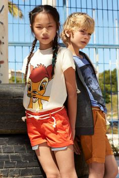 Little @ELEVEN PARIS Spring Summer 2014, Bambi t-shirt with Passy shorts #animalkingdom #elevenparis #littleelevenparis #childrens #kids #childrenswear #kidswear #kidsfashion #girls #boys