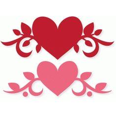 Silhouette Design Store - View Design #73315: heart vine flourish