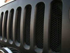 2007 2008 2009 2010 2011 2012 Jeep Wrangler JK Black Mesh Grille Guard Kit | eBay