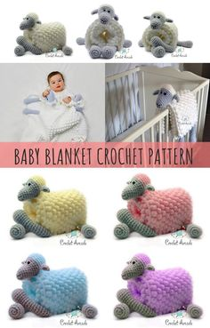 ORIGINAL Cuddle and Play Sheep Crochet Blanket it's a very unique and original baby shower gift idea that every mum Crochet Sheep, Crochet Bebe, Crochet Hook Set, Crochet Gifts, Crochet Toys, Crochet Baby Blanket Beginner, Crochet Blanket Patterns, Manta Animal, Practical Baby Shower Gifts