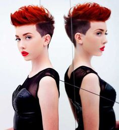 Love this cut Mohawk and color, planning to get the look next time I am at the salon!