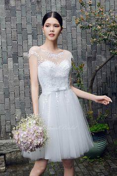 Short Tulle Wedding Dress Vintage Inspired Bride