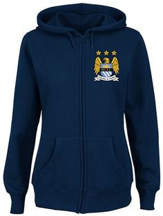 Manchester City Women's Left Chest Official Logo Full-Zip Hooded Sweatshirt