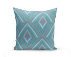 Throw Pillow Cover Teal Blue Purple Aqua  Home Decor