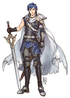 Chrom drawn in Senri Kita's-ish style. Plus I gave his costume an older Fire Emblem-feel.
